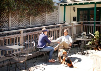 We have outdoor seating that's dog-friendly.